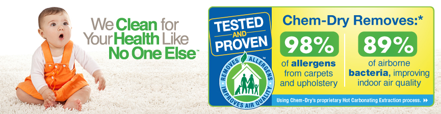 We Clean for Health with allergy icon